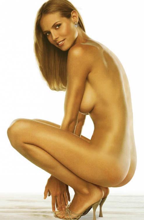 Babe topless heidi klum wet naked vixen