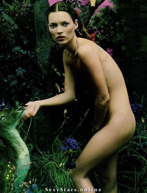 Kate Moss nahá. Fotka - 9