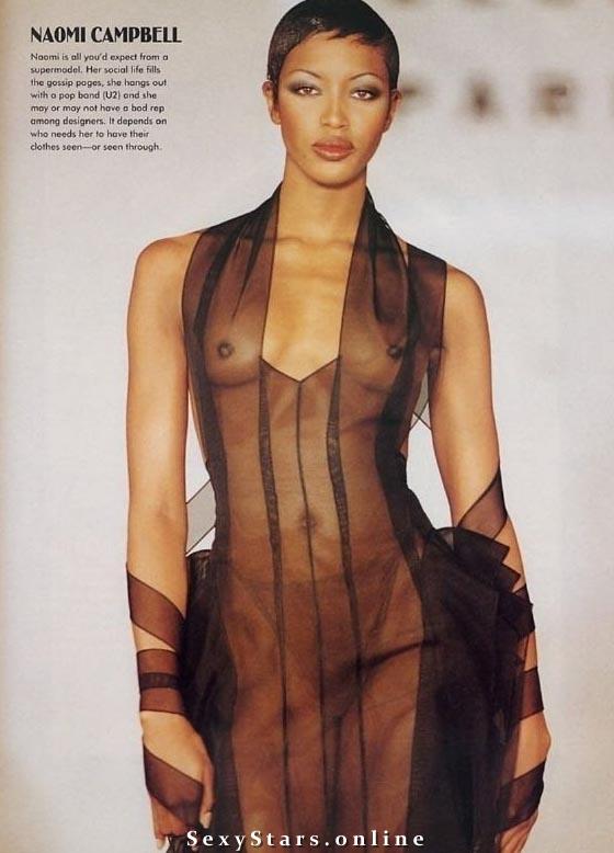 Naomi Campbell nahá. Fotka - 4