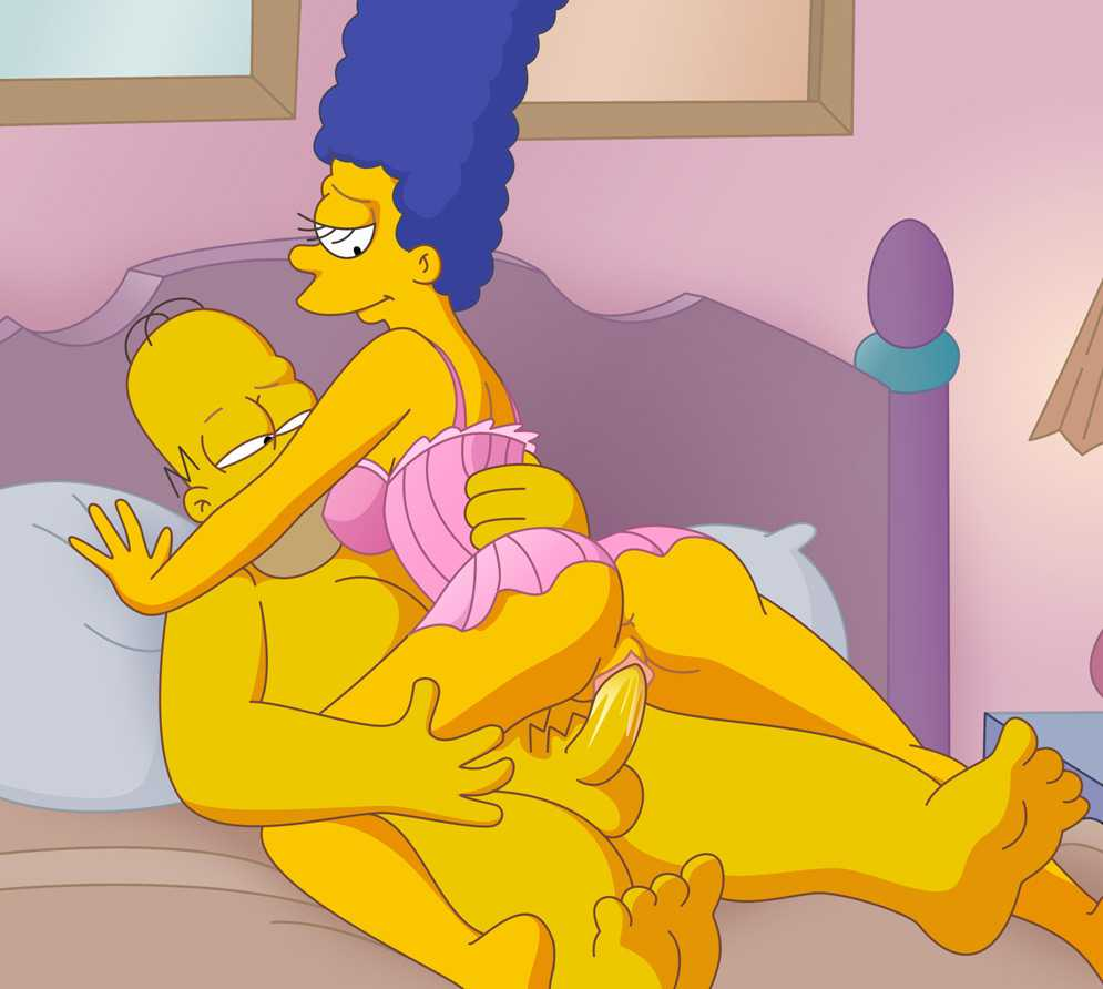 Cartoon porn simpsons porn son, sister and mom have fun
