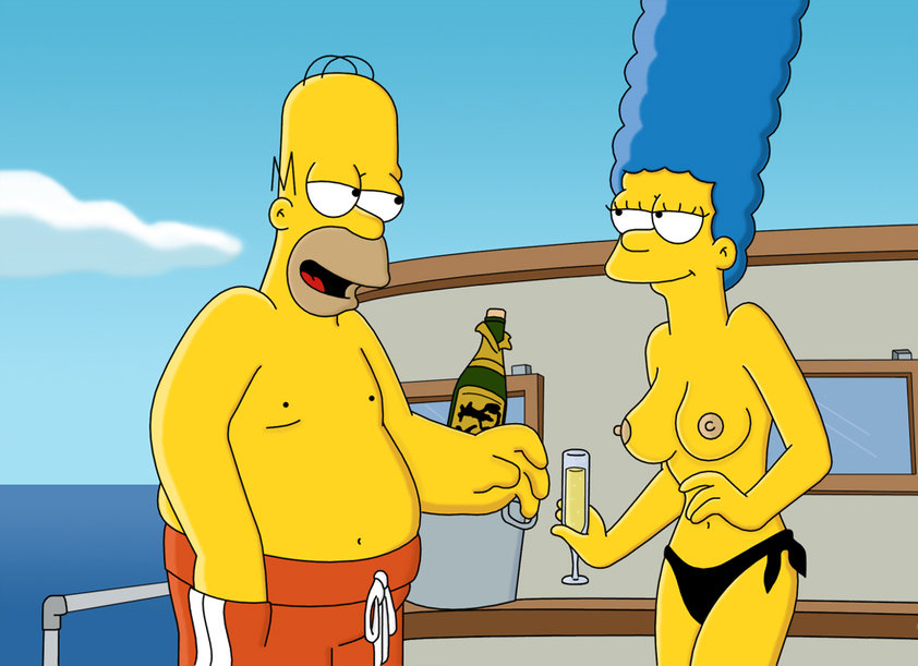 The simpsons someone revealing his naked butt gif
