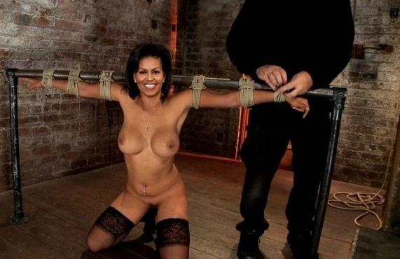 Мишель Обама голая. Фото - 27